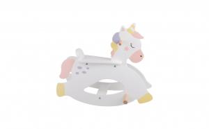 Balansoar pentru copii din lemn, model Unicorn