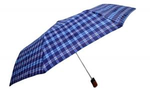 Umbrela ICONICUL pliabila, automata, buton deschidere, Bleumarin, 110cm diametru, articulatii anti-vant