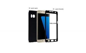 Husa Samsung Galaxy A3 2017 Flippy Full Cover 360 Negru + Folie de protectie