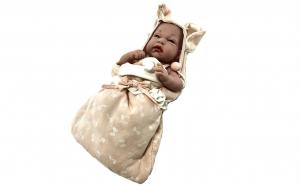 Papusa Bebe Nou Nascut roz cu scutecel