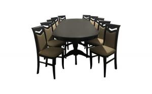 Set masa  Wenge cu 10 scaune tapitate,