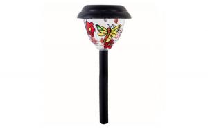 Lampa solara Vitralii Flori Negre 38 cm