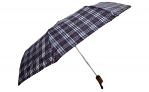 Umbrela ICONICUL pliabila, automata, buton deschidere, negru, 110cm diametru, articulatii anti-vant