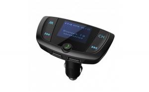 Modulator FM Techstar® T38  Wireless  Bluetooth 4.2 Microfon Integrat  FM Transmitator  Voltaj Baterie  USB  Slot MicroSD