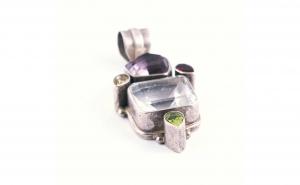 Pandantiv din Argint cu pietre semipretioase