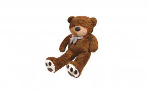 Ursulet de plus, Inaltime 100cm, maro inchis
