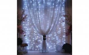 Instalatie, Craciun tip Perdea, 3m x 3 m, 320 LED-uri alb rece