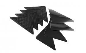 Set triunghiuri fixare covoare, 4 bucati, negru
