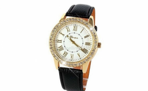 Ceas dama Geneva Classic Back and White