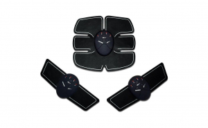 Aparat de stimulare a musculaturii, 3 piese, pentru abdomen si brate, SP0006 BLACK, Vivo