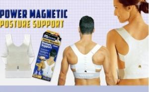 Suport magnetic lombar pentru corectarea pozitiei spatelui