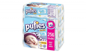 Servetele Umede PUFIES Sensitive, 4x64 buc