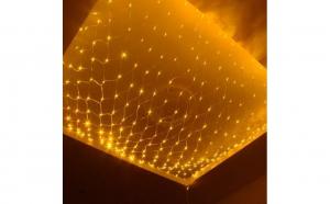 Instalatie de Craciun tip plasa, 3m x 1.2 m, 160 led-uri Alb Cald