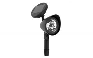 Lampa solara cu proiector negru 32 cm