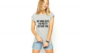 Tricou dama gri -  My MOM says