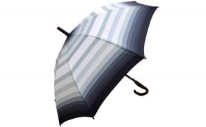 Umbrela Femei automata gri multicolor 110cm diametru - anti-vant la doar 24.99 RON