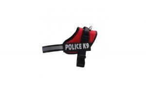 Ham pentru caini Police K9, marimea XL, 70-90 cm, rosu
