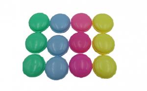 Set 6 gelatina macarons 5 cm