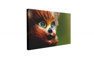 Tablou Canvas Cat Doll, 60 x 90 cm, 100% Poliester