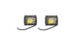 Set 2 Proiectoare LED, 48W per proiector, 12 Leduri, 12-24V
