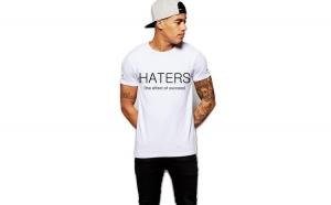 Tricou barbati alb - Haters