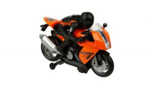 Motocicleta de curse de viteza cu sofer, cu baterii, cu sunet si lumini, functie bump and go, 3 ani+, Topi Dreams