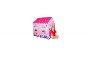 Cort casuta roz, utilizare interior/exterior, 95x72x102 cm