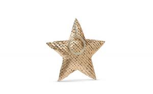 Breloc glitter - model stea - 8 culori