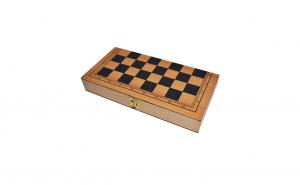 Joc 3 In 1: Sah/Table/Dame-Cutie de lemn-40x19cm