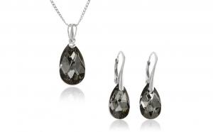 Set Armonia Argint925, realizat cu cristale Swarovski, culoare - gri, la 147 RON in loc de 300 RON