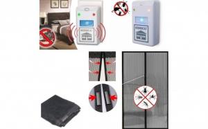 Set 2 aparate anti-insecte si rozatoare + plasa anti-insecte cu prindere magnetica