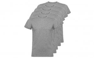 Set de 5 tricouri gri din bumbac pentru adulti