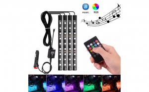 Lumini ambientale RGB cu music controler si telecomanda