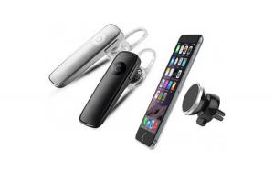 Casca Bluetooth universala + Suport magnetic pentru telefon