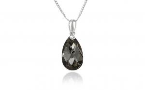 Lantisor Armonia realizat cu cristale Swarovski gri - Argint925, la 89 RON in loc de 200 RON