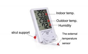 Termometru cu ceas pentru interior si exterior, la numai 69 RON redus de la 165 RON