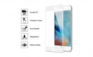 Folie sticla securizata 3D Full Screen Iphone 7/8 Plus, Alb