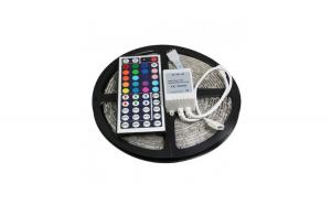 Banda LED MULTICOLOR - 5 metri ce include telecomanda + adaptor + sursa