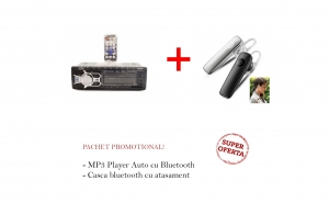 MP3 Player Auto 4 x 50W - cu Bluetooth + Casca Bluetooth