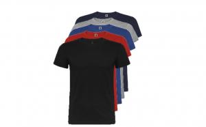 Set de 5 tricouri mixte din bumbac pentru adulti
