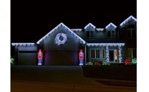 Instalatie luminoasa exterior de tip turturi, cablu si leduri foarte rezistente la intemperii,160 LEDuri, consum redus, 4,5m x 0,5 m, la doar 119 RON in loc de 229 RON