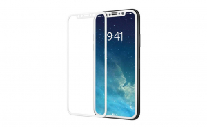 Folie sticla securizata 3D Full Screen Iphone X/XS,Alb