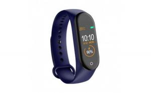 Bratara Sport M4 Techstar® Pentru Fitness  Monitorizarea Presiunii Sangelui si A Batailor Inimii  Albastru