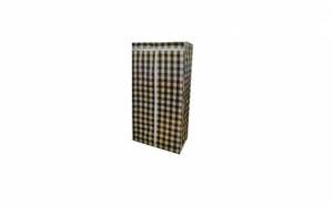 Sifonier portabil din material textil, in carouri, 75x45x160cm