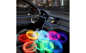 Banda decorativa auto LED 3m, pentru interior