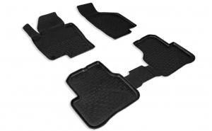 Covoare / Covorase / Presuri cauciuc stil tip tavita VW Passat B7 2010-2014 (5 bucati) - SEINTEX
