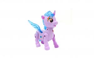 Ponei, unicorn cu aripi, cu sunete si lumini, alearga, mov