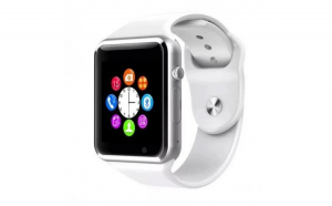 Ceas Smartwatch Techstar® A1 Alb cu Bluetooth  Compatibil SIM si MicroSD