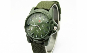 Ceas barbatesc Swiss Army Green