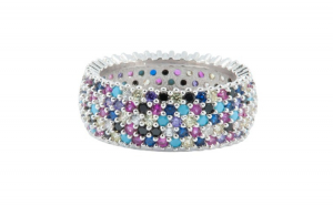 Inel dama argint 925 Multicolor Crystals
